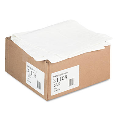Tatco® Paper Table Cover With Plastic Liner - 20 ct.