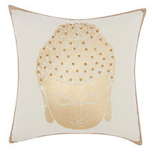 "Gold Buddha Swirl 18"" x 18"" Decorative Pillow By Nourison"
