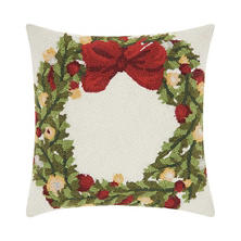 Nourison Holiday Wreath Decorative Pillow