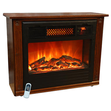 LifeSmart Compact Infrared Quartz Fireplace
