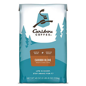 Caribou Coffee Whole Bean, Caribou Blend  (40 oz.)