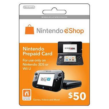 Nintendo eShop Prepaid Gift Card - $50