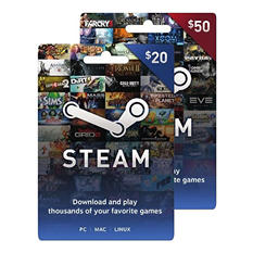 Steam Gift Card - Various Amounts