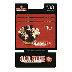 Cold Stone $30 Multi-Pack - 3/$10 Gift Cards