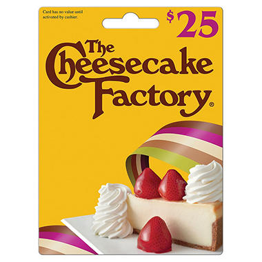 Cheesecake Factory Gift Card - $25