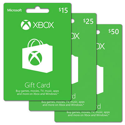 Xbox Live Gift Card - $25