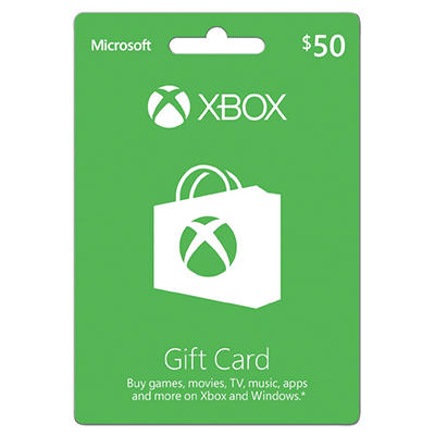 Xbox Live Gift Card - $50