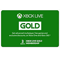 Xbox Live Gold Card - Various Amounts