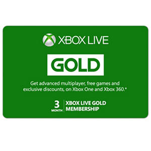 Xbox Live Gold Card - Various Amounts