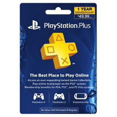 Sony PlayStation Plus 1 Year ($49.99) Subscription Gift Card