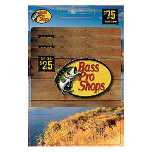 Bass Pro Shops $75 Multi-Pack- 3/$25 Gift Cards
