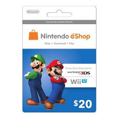 Nintendo Mario and Luigi eShop Prepaid Gift Card - $20