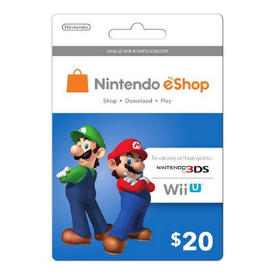 Nintendo Mario and Luigi eShop Prepaid Gift Card - $20