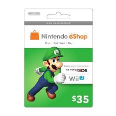 Nintendo Luigi eShop Prepaid Gift Card - $35
