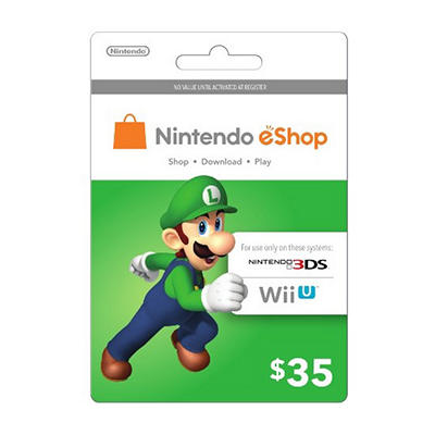 Nintendo Luigi eShop Prepaid Gift Card - $35