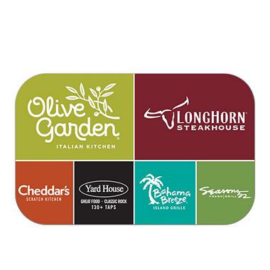 Darden Universal $75 Multi-Pack - 3/$25 Gift Cards (Red Lobster, Olive Garden, Longhorn Steakhouse, & More)