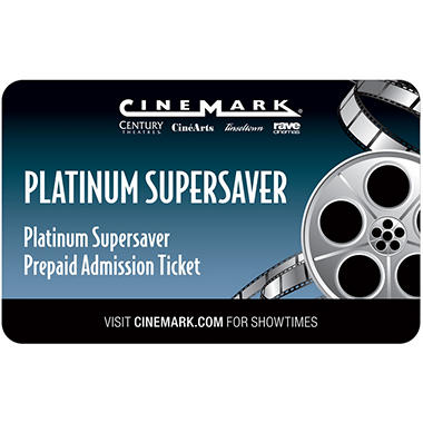 Cinemark Gift Card - 2/Adult movie tickets