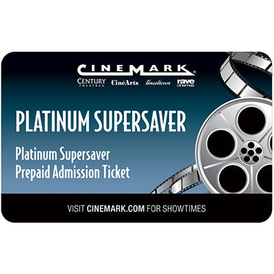 Cinemark Gift Card - 2 Adult Movie Tickets for $15.98