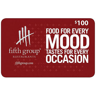 Fifth Group Restaurants Gift Card - $100