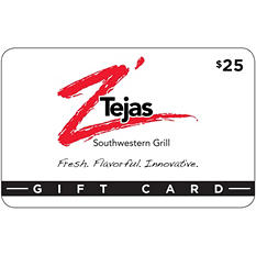 Z'Tejas $50 Multi-Pack - 2/$25 Gift Cards for $39.98