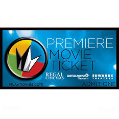 Regal Theater Ticket - 2 Tickets $16.98