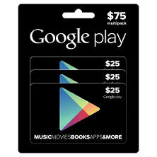 Google Play $75 Multi-Pack - 3/$25 Gift Cards