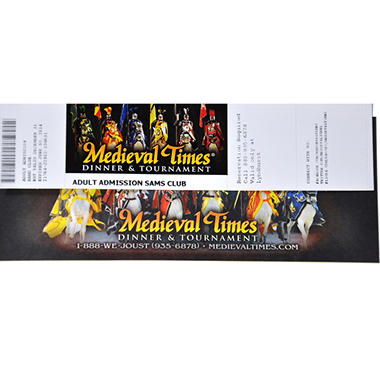 Medieval Times Gift Card - Lyndhurst, NJ - 1 Adult Dinner & Tournament