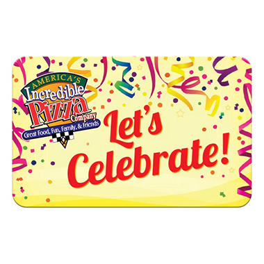 America's Incredible Pizza - Springfield, MO $50 Multi-Pack - 5/$10 Gift Cards