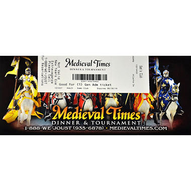 Medieval Times Gift Card - Atlanta, GA - 1 Adult Dinner & Tournament