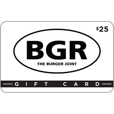 BGR The Burger Joint $50 Multi-Pack - 2/$25 Gift Cards