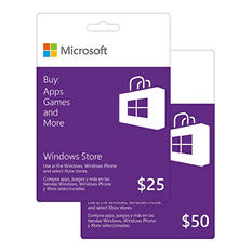 Windows Store Gift Card - Various Amounts