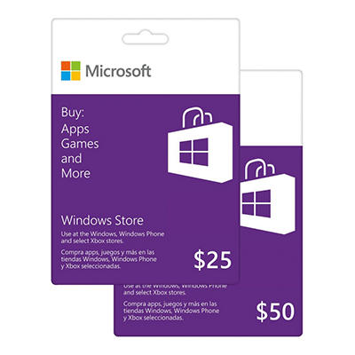 Windows Store Gift Card - $25