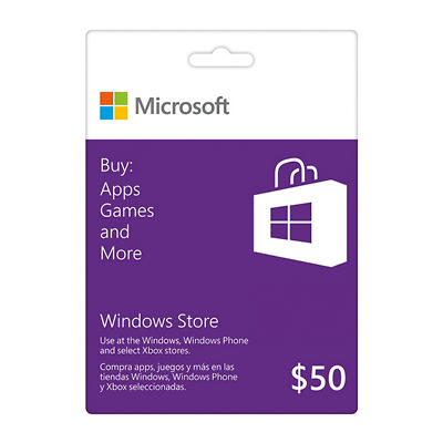 Windows Store Gift Card - $50