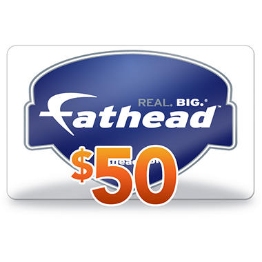 Fathead Gift Card $50 Gift Card for $36.48