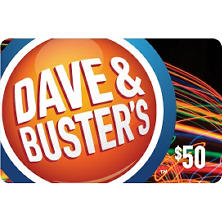 Dave & Buster's $50 Gift Card for $39.98