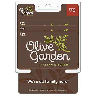 Olive Garden 75 Gift Card 3x 25 Sam 39 S Club