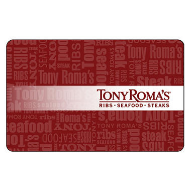 Tony Roma's $50 Multi-Pack - 2/$25 Gift Cards
