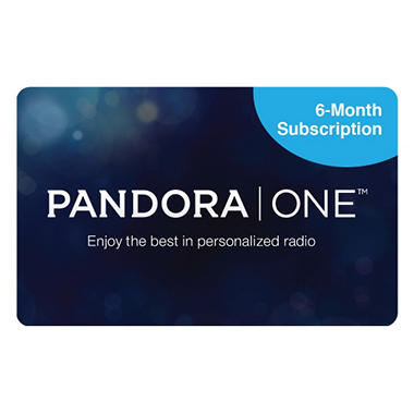Pandora One Multi-Pack - 3/Six Month Subscription Gift Cards