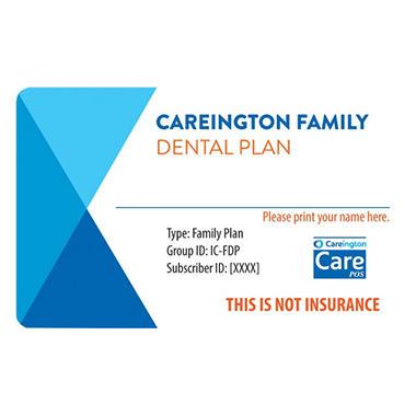 Careington Family Dental Plan valid for One full year