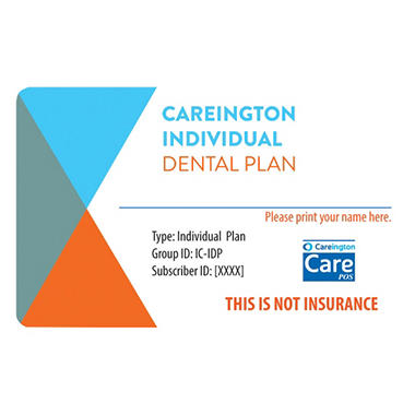 Careington Individual Dental Plan valid for One full year