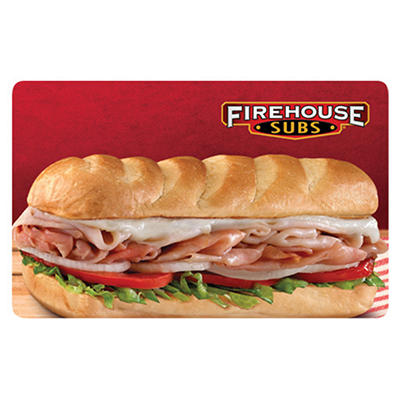 Firehouse Subs $50 Multi-Pack - 5/$10 Gift Cards