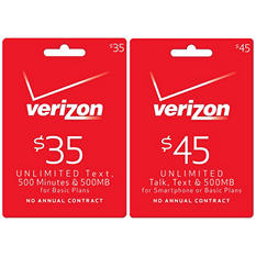 Verizon Wireless Refill Prepaid Airtime - Various Amounts