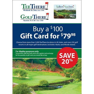 TeeThere.com - GolfThere.com $100 Gift Card