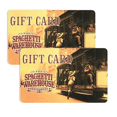 Spaghetti Warehouse $50 Multi-Pack - 2/$25 Gift Cards