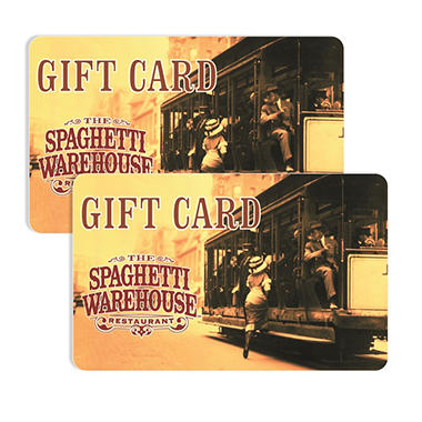 Spaghetti Warehouse $50 Multi-Pack - 2/$25 Gift Cards