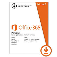 Microsoft Office 365 Personal $69.99 eGift Card (Email Delivery)