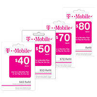 T-Mobile Refill Card - Various Amounts
