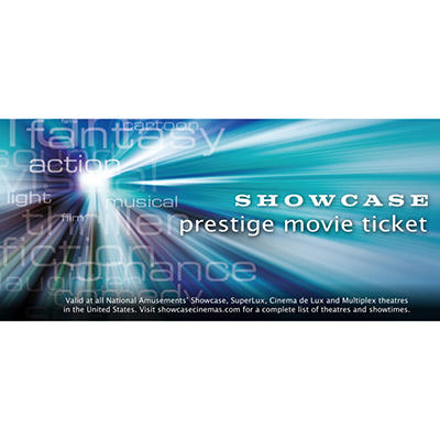 National Amusements 2 Showcase Cinema Movie Tickets for $17.48