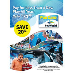 SeaWorld Orlando Fun Card - $79.98