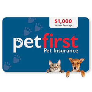 PetFirst Insurance Coverage eGift Card -Various Amounts (Email Delivery)